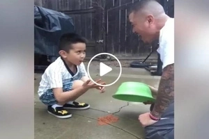 Pinoy dad's epic fail 'poop' prank to son ends hilariously gross