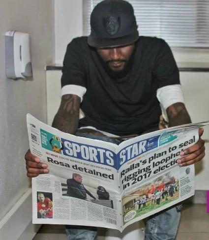 Kiss FM's Shaffie Weru shocks Kenyans with his toilet photos