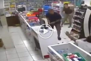 Palabang mag-asawa! Brave cop and his wife get into scary gunfight with deadly grocery store robber