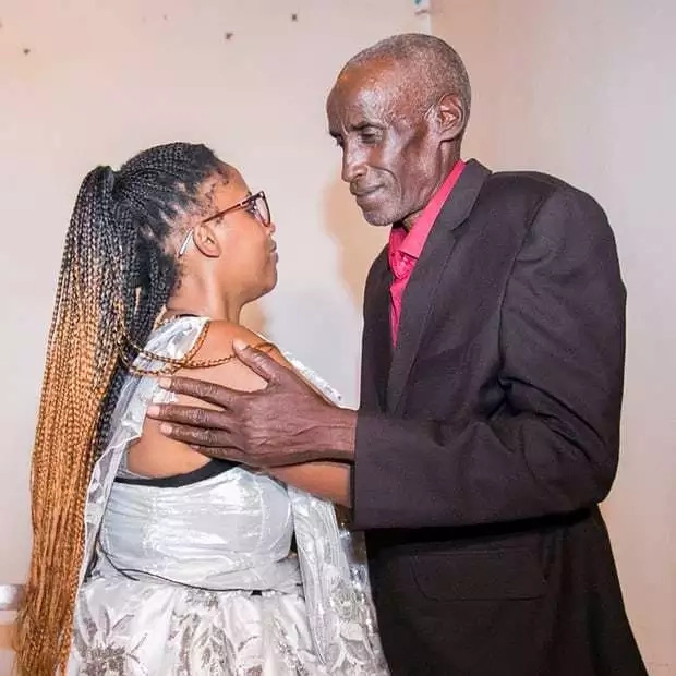 Chiapello reunites with her father Sebarinda. Photo: Cyril Ndegeya