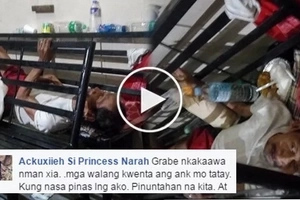 Heartless daughter abandons sick father at hospital. Las Piñas District Hospital however wouldn't take him in.