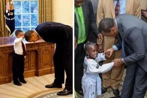 Who wins? 7 photos of President Barack Obama with kids vs Uhuru Kenyatta with kids.