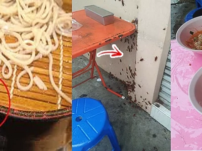 Kakain parin ba kayo? Netizen had a yummy bowl of noodles at a local food stall, despite cockroaches and rats surrounding the place