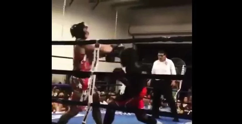 An Amateur Boxer's Badass Knockout Punch Goes Viral
