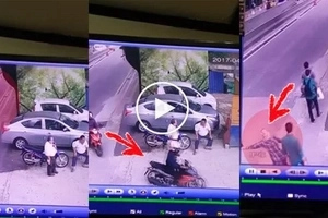 Watch how snatcher grabs bag of unsuspecting woman in front of KLCC