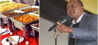 Battle for food at State House Nakuru after Uhuru hosts Gusii leaders