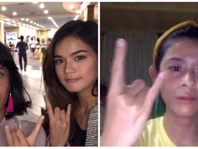 Nang mainlab ako sayo! Maris Racal takes epic selfie with 'Tassel Girl' Kat Galang