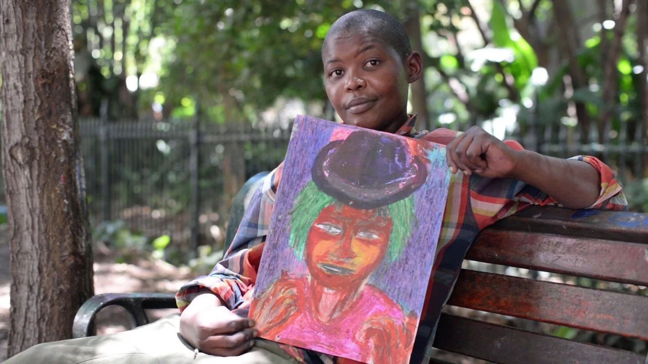 Meet the amazing homeless woman whose art helps to her find meaning in life