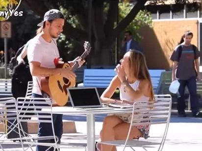 What This Guy Did To Random Girls In Public Is Just Unbelievable! Watch The Video To Find Out!
