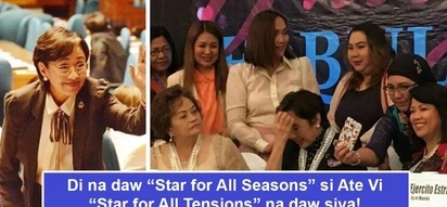Buti nlang si Ate Vi andun! Cong. Vilma Santos earns new title as 'Star for all Tensions' for breaking growing tension between 2 women justices