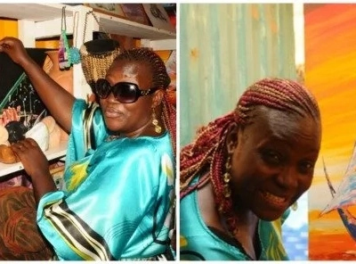 Inspiring! BLIND woman paints from her imagination and makes money (photos)