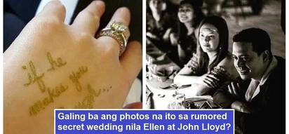 Galing ba ito sa diumano'y secret wedding? New photos of Ellen Adarna and John Lloyd Cruz go viral