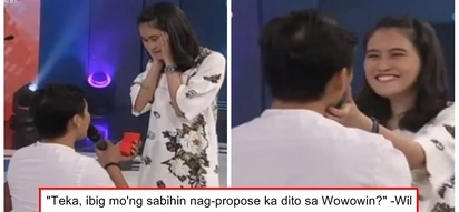 Nakaka-kilig naman! Man's sweet proposal to her girlfriend on 'Wowowin' touch netizens and viewers