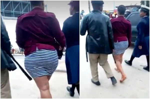 'Starved' crowd tries to undress curvy woman in public because of her short skirt