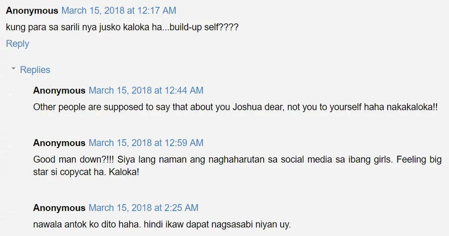 "Ang daming nainis! Joshua Garcia gets flak from netizens after posting cryptic tweet amid his alleged ""chat"" with a female netizen"