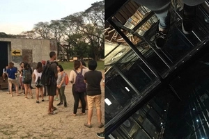 Just like Hogwart's charmed tent! This shanty in UP Sunken Garden has a shocking surprise inside