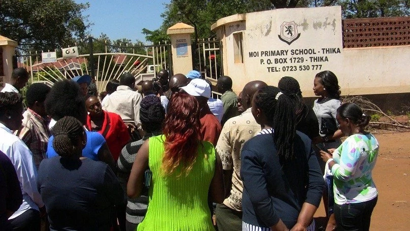 Parents storm school to evict heateacher after poor KCPE results
