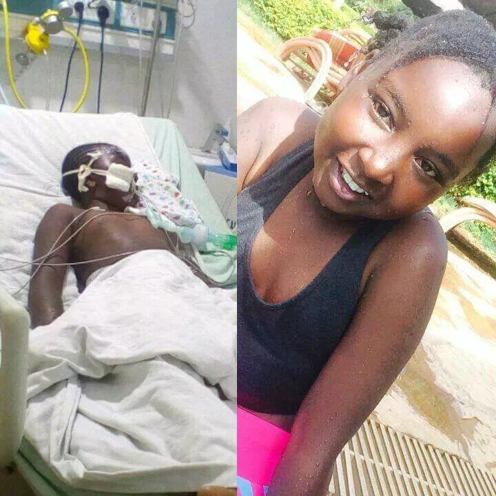 Fire victim Fiona Wanjiru of GSU Primary School passes on