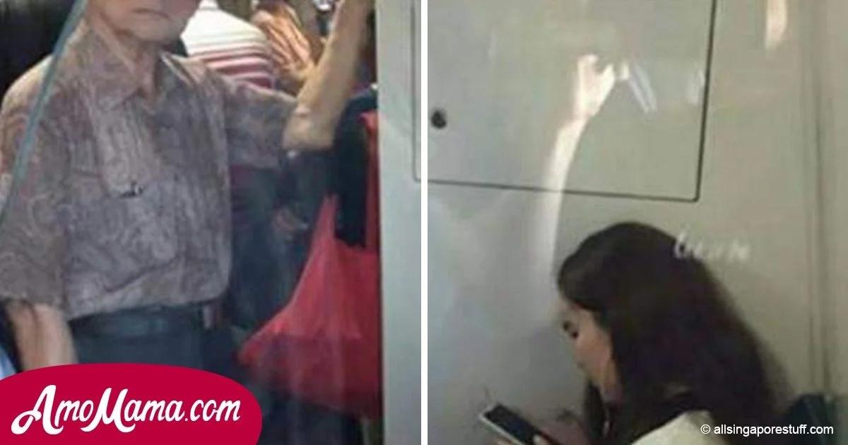 Le preguntaron a una joven si podía ceder el asiento a un anciano. Todos los pasajeros se quedaron sin palabras cuando escucharon su cruel respuesta