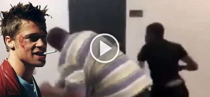 Disgusting footage of a teacher and a high school student brawling