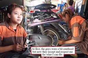15-year-old Female Mechanic Gains Netizens' Praises! Find Out Why! Her Story Is Truly Amazing!