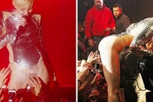 Miley Cyrus Allows Fans to Touch Her V*gina & B*tthole During Performance