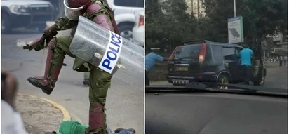 Kenyan police officers proves not all cops are inhumane,see what he did to a stranded motorist