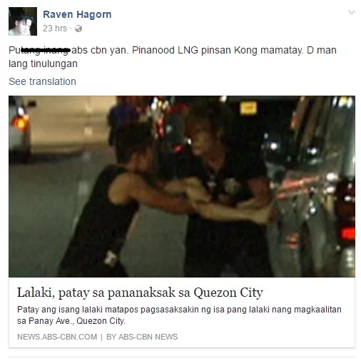 Netizen says ABS-CBN just watched a cold murder