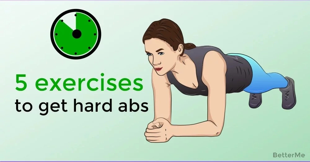 5 exercises to get hard abs