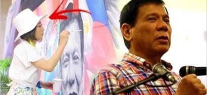 Japanese artist shows support to Duterte through her stunning paintings