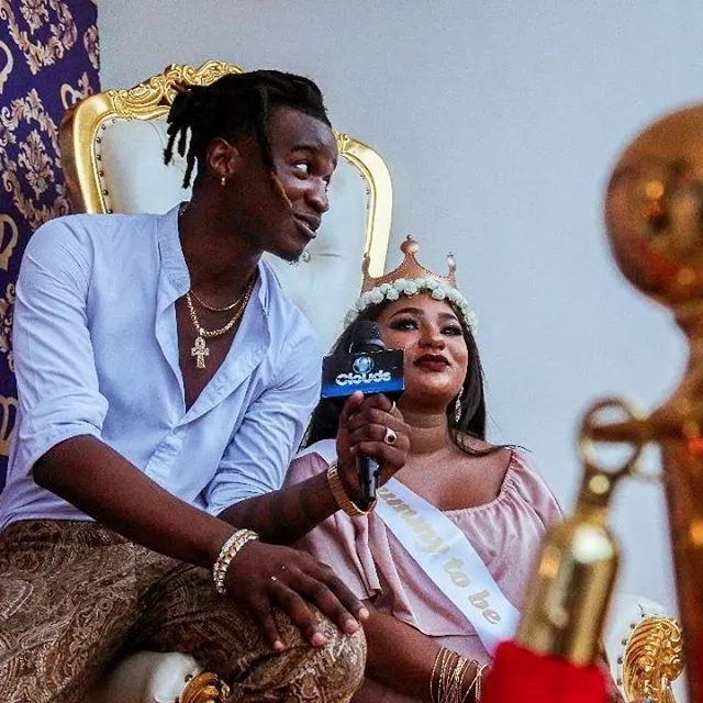 Navy Kenzo finally welcome their first born son,Gold
