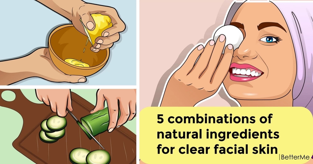 5 combinations of natural ingredients for clear facial skin