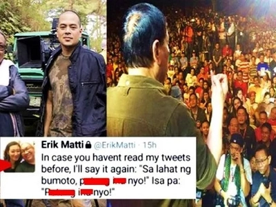Napamura sa galit! Director Erik Matti outraged netizens by cursing at Filipinos who voted for Duterte!