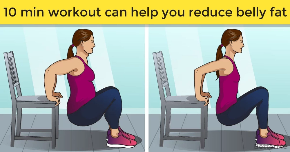 A 10-minute workout routine can help you reduce belly fat