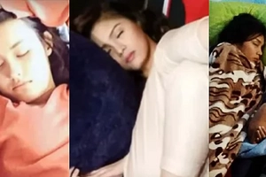Real-life sleeping beauties: Our fave celebs caught on-cam catching some much needed Z's