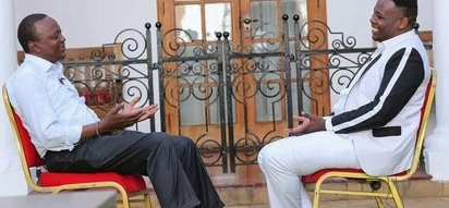 Uhuru takes a break off grueling politics to mourn friend's father