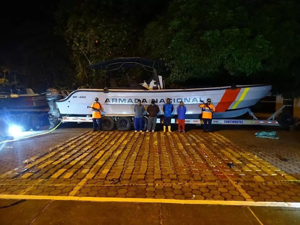 Armada Nacional incautó más de una tonelada de cocaína
