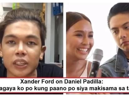 """Xander Ford gets emotional while sending his message to Daniel Padilla: """"Kilala ko naman po si Kuya Daniel"""""""