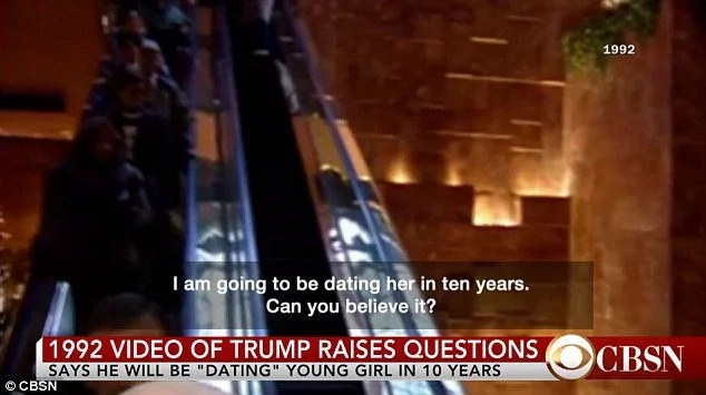"TRUMP NO! Trump Says That He's Going To Date Ten-Year-Old Girl ""In 10 Years"" (Video)"