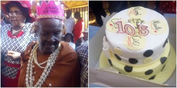 Is this the oldest grandma? 105-year-old woman celebrates birthday in grand style (photos)