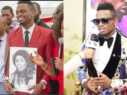 Kenyan artist conned after drawing creative portrait of Diamond Platnumz's mother