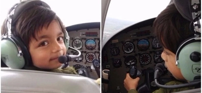 7-year-old boy becomes youngest person to have a flying lesson in British skies
