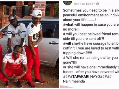 Had popular Kalenjin artist Nicco En Embassy predicted his death before perishing?