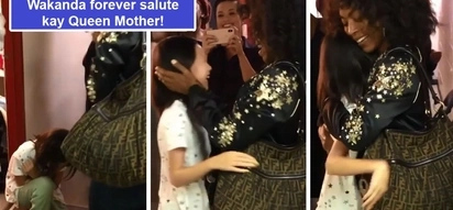 Sobrang nakakatuwa! Lea Salonga catches on video adorable moment daughter kneels before 'Queen' Angela Bassett giving the 'Wakanda forever' salute
