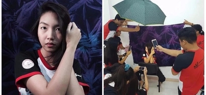 Para sa IG-worthy na picture! Netizen has her friends' full support in taking her 'artistic' photos