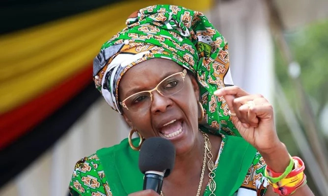 Grace Mugabe at a past rally. Photo: Reuters