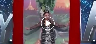 Kabogera! Miss Myanmar won national costume