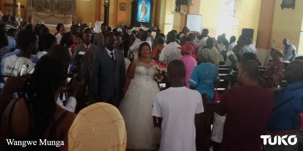 Kenyan man marries Indian girlfriend in rare church wedding and the photos are lit AF
