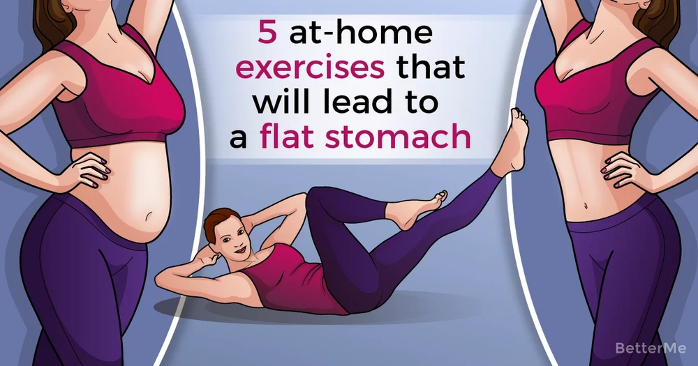 5 exercises to get a flat stomach at home