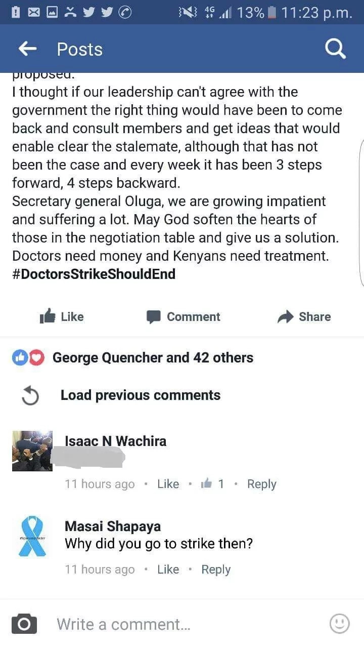 Young doctor speaks HONESTLY about the strike but fears being attacked (screen shots)